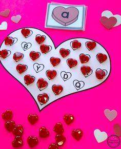 Valentine's Worksheets – Planning Playtime Preschool Valentine Games – Heart Letter Bingo Preschool Valentine Crafts, Valentines Day Activities, Valentine Theme, Valentines Day Party, Valentine Ideas, Valentine Nails, Craft Stick Crafts, Crafts For Kids, Alphabet