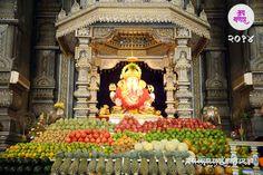 Mahanaivedya to Bappa Shri Ganesh, Ganesha Art, Lord Ganesha, Ganpati Decoration Theme, Ganapati Decoration, Dagdusheth Ganpati, Temple Drawing, Ganesh Chaturthi Decoration, Ganpati Festival