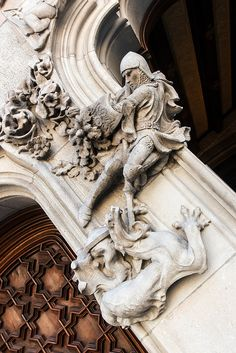 Art Nouveau George and the Dragon, Barcelona.