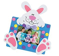12 - Easter Bunny Picture Frame Magnet Craft Kits happy d...
