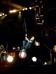 Eddie Vedder swinging. Voodoofest 2013 New Orleans.
