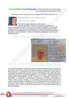 Gaweda polska fo308 bergoglio na fotce do paszportu ktory moze byc przydatny na emeryturze zech