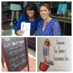 Lifestyle blogger Shannon Ables signs Choosing the Simply Luxurious Life at Elm Street Books in New Canaan, CT!