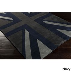 Hand tufted Union Jack Novelty Contemporary Area Rug (8 X 11)