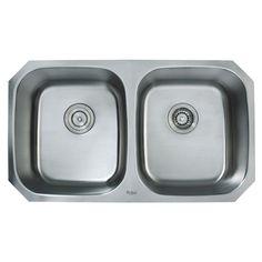"Found it at Wayfair - Undermount 33"" Double Bowl 50 / 50 Kitchen Sink http://www.wayfair.com/daily-sales/p/Country-Kitchen%3A-Farmhouse-Sinks-%26-More-Undermount-33%22-Double-Bowl-50-%2F-50-Kitchen-Sink~KUS1522~E17347.html?refid=SBP.rBAZEVSZ0_5zhXZ7OHItApeu9I_cikiOjpVsZWYF8QQ"