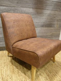 #cork leather chair
