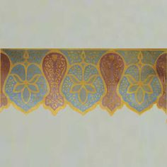 kashmir frieze border stencil by royal designs studio