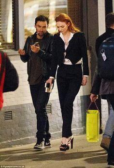 Aidan Turner and Eleanor after Poldark 3 first screening.  London May 2017.