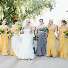 This gray and yellow combo is #gorgeous! #TheWindmillWinery