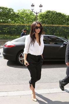 Kim Kardashian classic street style in Paris
