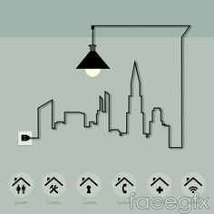Background Street real estate vector