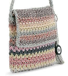 Amazon.com: The SAK Casual Classics Flap Cross Body, Festive Stripe, One Size: Shoes Crochet Pouf, Crochet Pants, Crochet Clutch, Crochet Handbags, Crochet Purses, Cute Crochet, Cross Body, Crochet Purse Patterns, Cute Bags