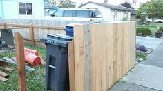 Fence - garbage enclosure