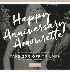 20% off our fave pieces from Triumph? Triumph!