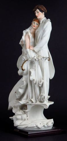 LARGE GIUSEPPE ARMANI FIGURINE OF THE BRIDE AND GROOM : Lot 186 Wedding Groom, Bride Groom, Mark Keller, Wedding Topper, Royal Doulton, Artists Like, Vintage Antiques, Sculptures, Soap