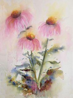 Pretty Coneflowers Painting
