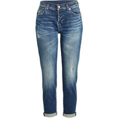 7 for all Mankind Boyfriend Jeans (950 RON) ❤ liked on Polyvore featuring jeans, blue, pants, distressed boyfriend jeans, boyfriend jeans, faded blue jeans, blue boyfriend jeans and distressed jeans
