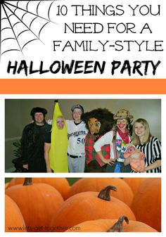 10 ideas for games and food for an easy to put together family-friendly Halloween party. #halloween #party #halloweengames