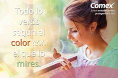 Mira el mundo de la mejor manera; lleno de color.  #ComexPinturerías #Decoración #MundoDeColor