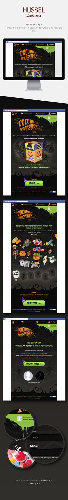 FacebookApp//Jerónimo Martins//Hussel//Halloween 2014 on Behance. Work from curiosidade.pt