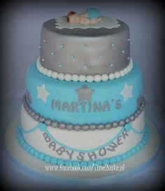 Babyshower taart Babyshower, Cake, Desserts, Food, Tailgate Desserts, Deserts, Baby Shower, Kuchen, Essen