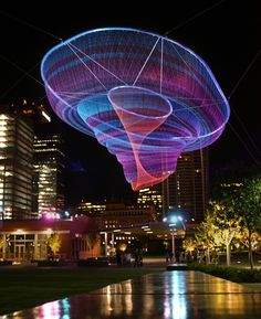 Janet Echelman Reshaping Urban Airspace World-Wide #art
