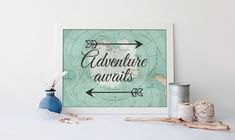 Nautical map wall art nautical nursery by RainbowsLollipopsArt