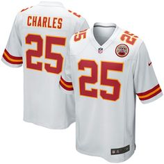 Jamaal Charles Kansas City Chiefs Nike Youth Game Jersey – White