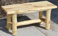 Rustic Log Bench - Cabin, Lodge, Country Log Furniture - Free Shipping                                                                                                                                                                                 More
