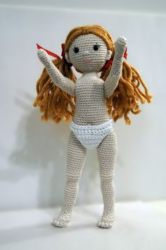 Crochet doll crochet girl amigurumi girl The Zizidora by Zizidora