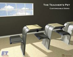 Flux e-desk. Modern school/work desk, designed for use with ...
