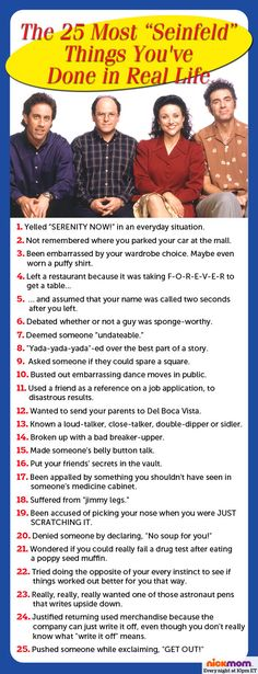 """The 25 Most """"Seinfeld"""" Things You've Done In Real Life 