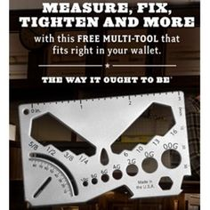 Free Multi-Tool from Red Seal - http://ift.tt/2qd1CLX