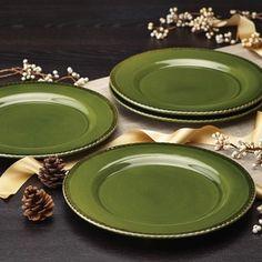 BonJour Dinnerware Sierra Pine Forest 4-piece Stoneware Dinner Plate Set