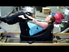 Note from TeamMona: Pregnant? Here's a 5 minute clip showing how you can still incorporate your Pilates Reformer work into your prenatal fitness routine. ▶ Pilates Reformer Pregnancy Training - YouTube