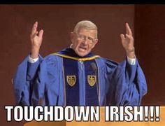 Lou Holtz returns to Notre Dame for commencement address Notre Dame Football, Nd Football, Football Jerseys, College Football, Go Irish, Irish Pride, Luck Of The Irish, Touchdown Jesus, Brian Kelly
