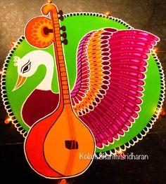 Rangoli Designs Peacock, Rangoli Designs Latest, Simple Rangoli Designs Images, Colorful Rangoli Designs, Rangoli Designs Diwali, Diwali Rangoli, Beautiful Rangoli Designs, Kolam Designs, Mandala Design