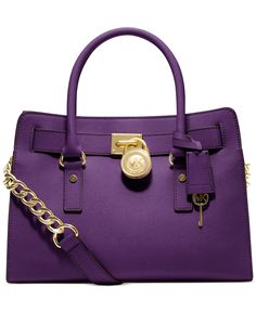 MICHAEL Michael Kors Hamilton Saffiano Leather E/W Satchel - Shop All Michael Kors Handbags & Accessories - Handbags & Accessories - Macy's Cheap Michael Kors, Michael Kors Outlet, Handbags Michael Kors, Michael Kors Hamilton, Michael Kors Bag, Satchel Handbags, Purses And Handbags, Satchel Bag, Leather Handbags