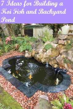 Build a koi fish pond gardens pond ideas and fish for Koi pond depth