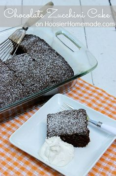 This Chocolate Zucchini Cake is a MUST make! It's super moist and the kids will never know there are vegetables in it! Click on the Photo to grab the Recipe!