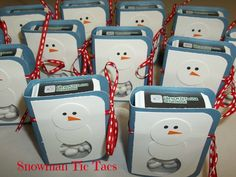 Phaedra's Adventures: Snowman Tic Tacs - can be a Thank You Snow Much gift!!!