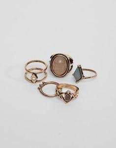 Lot 5 bagues assorties - Bijoux - Accessoires - Femme - PULL&BEAR France