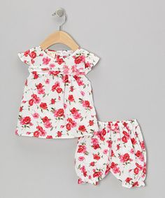 Take a look at this White & Pink Flower Blossom Dress & Bloomers - Infant by the Silly Sissy on #zulily today!