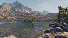 Unreal Engine 4 mountain environment - Foliage/Landscape test