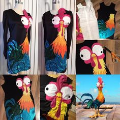 Diana / Die: 🐔Hey it's Hei Hei!🐔 Went to see Moana again tonight and loved it so much from the screening I wanted . Heihei Costume, Cute Costumes, Family Halloween Costumes, Halloween 2017, Halloween Party, Costume Ideas, Cosplay Ideas, Moana Birthday Party, Luau Party
