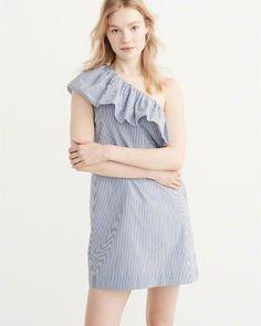6f07fd44acc7 ANF One-Shoulder Shift Dress Jumpsuit Dress