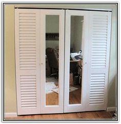 Mirror Bifold Doors hang mirrors on your bifold closet doors. | 25 cheap and easy diys