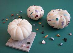 A DIY terrazzo pumpk