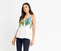 Oasis, TROPICAL PLACEMENT CAMI Multi Natural