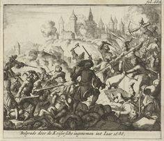Jan Luyken   Inname van Belgrado, 1688, Jan Luyken, Jurriaen van Poolsum, 1689   Prent rechtsboven gemerkt: fol. 682.